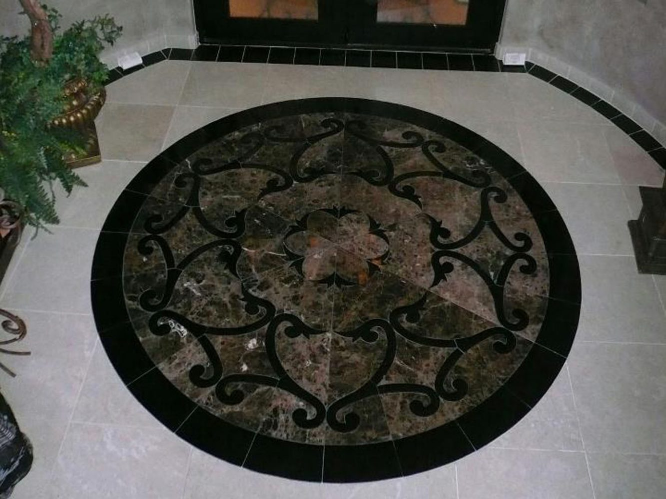 Dark Medallion Flooring