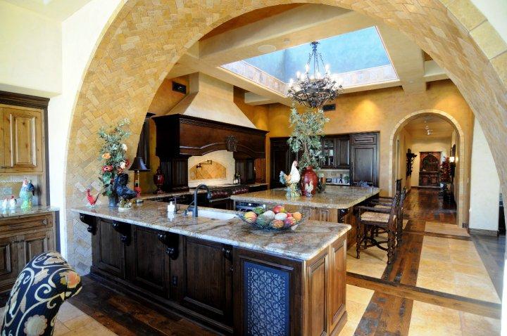 Warm Kitchen with Dark Cabinets
