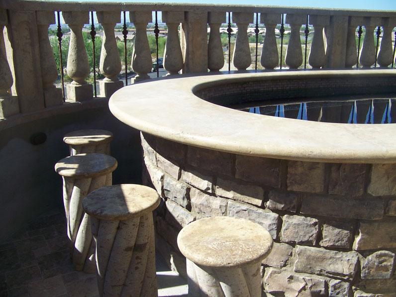 Natural Stone Pillars Seats